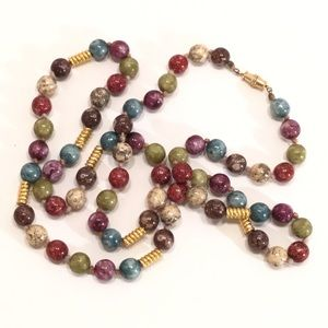 Colorful Stone Bead Necklace